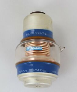 Jennings Ucslps 750 5s Glass Vacuum Variable Capacitor 5000v 10 750pf