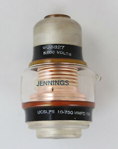Jennings Ucslps 10 750 5s Glass Vacuum Variable Capacitor 5000v 10 750pf