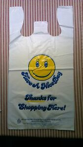 100 Large Carry Out Supermarket Grocery Retail Merchandise Plastic Shopping Bag