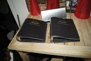 Vintage Jeppesen Airway Manual Binder Bonded Leather 7 Rings Large Nice Cond