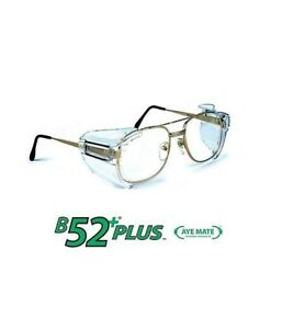 Sos B52 Clear Safety Glasses Side Shields For Medium To Large Glasses 20 Pack