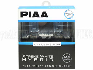Piaa 3900k Xtreme White Hybrid Dot Halogen Headlight Light Bulbs H13 9008