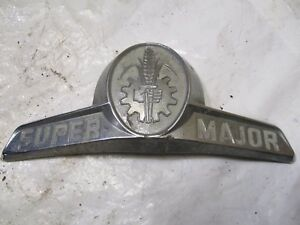 Ford Fordson Super Major 5000 Tractor Hood Emblem