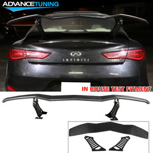 Universal Adjustable Trunk Spoiler Lambo Style Black Abs Plastic