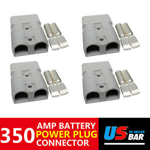 350a 4pcs Gray Plug Battery Charger Protection Quick Connect Car Module Power