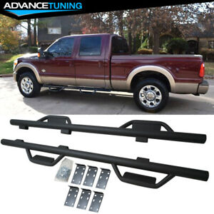 Fits 99 16 Ford F 250 Super Duty Crew Cab Hoop Running Boards Nerf Bar