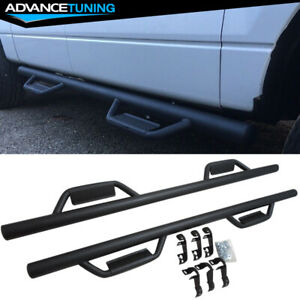 Fits 2009 2014 Ford F150 Crew Cab V1 Style Nerf Side Step Bar Running Boards