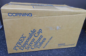 Corning 99447 13 Pyrex Disposable Screw Cap Culture Tube 13 X 100mm 250 bx 1000