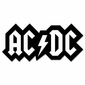 Acdc Ac Dc Logo Classic Rock Band Vinyl Car Sticker Decal 3