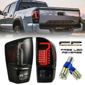 2016 2020 Toyota Tacoma Led Tail Light Black Smoke Lens Free Canbus Led Reverse