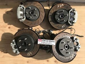 2017 18 Subaru Wrx Drilled Rotors Calipers Knuckles Hubs Oem Jdm 2017 Only
