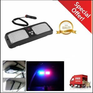 86 Led Emergency Warning Flash Sunshield Visor Strobe Light Red Blue Lights Oo