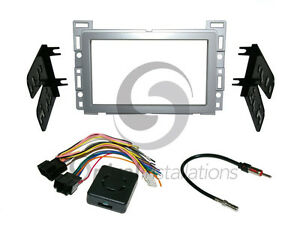 Radio Stereo Installation Dash Kit Combo Dd Silver Wire Harness Antenna Ch4
