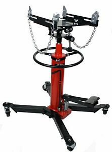 Red 1100lbs 2 Stage Hydraulic Transmission Jack W 360swivel Wheels Lift Hoist