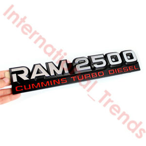 Ram 2500 Cummins Turbo Diesel Emblem Nameplate Badge Mopar For 1994 1998 Dodge