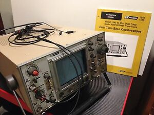 Bk Precision 1540 40mhz Dual Trace Dual Time Base Analog Oscilloscope Probes