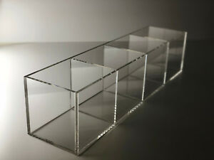 Acrylic Tray W 4 Compartments Large Open Tray Display Case Organizer Sectional