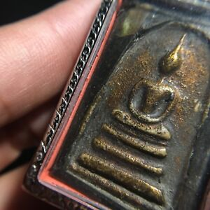 Beautiful Phra Somdej Buddha Thai Amulet Luck Rich Wealth Peace Protect