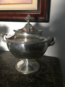 Antique Silver Soup Tureen By Jc Klinkosch
