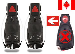 2x New Replacement Remote Key Fob Button Pad For Mercedes Benz Iyz3312
