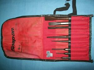 New Snap On Ppc710bk 8 Piece Punch And Chisel Set In Bag Looks Unused