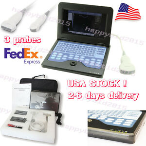 Full Digital Portable Laptop Ultrasound Scanner Machine With 3 Probes usa Ship