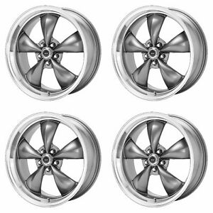 4x American Racing 16x7 Ar105 Torq Thrust M Wheels Anthracite Machined 5x115 35