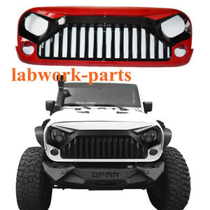 Red Angry Bird Front Grille Hood For 07 17 Jeep Wrangler Jk Unlimited