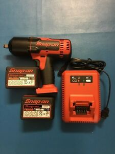 Snap On Ct8850 18 V Li ion Cordless 1 2 Impact W 2 Batteries Charger Like New
