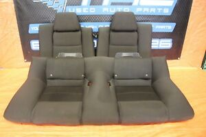 2014 Ford Mustang Gt Coyote 5 0 Oem Factory Black Rear Cloth Seat V8 Assy 1097