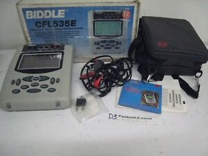 Biddle Cfl535e Advanced Time Domain Reflectometer W Soft Case Cables