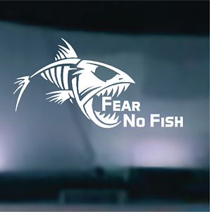 Fear No Fish Decal Sticker Vehicle Truck Window Wall Laptop Cooler 7