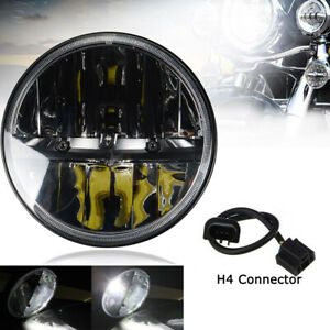Universal Motorcycle 7 Inch 40w Led Hi lo H4 Bulb Headlight Projector Daymaker