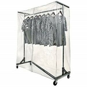 New Commercial Grade Garment Black Base Z rack With Cover Supports Vinyl Cover