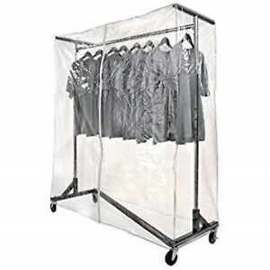 New Commercial Grade Garment Black Base Z rack With Cover Supports