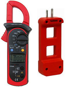 Tekpower Ut202a Ac dc Voltage Ac 600 Amp Clamp Meter With Ac Line Splitter