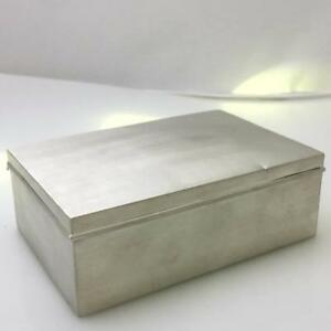 Vintage Cartier Sterling Silver Wood Cigarette Case Treasure Box 5 2x 3 6 X 1 8