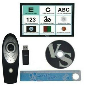 Chart Projector Eyesight Vision Visual Tester Software With Remote Control