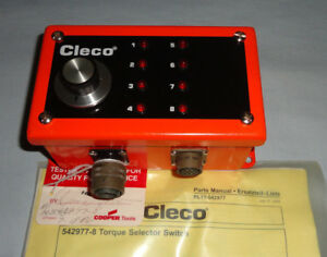 Cleco 542977 8 Torque Selector Switch 5429778 8 Position Cooper Tools New