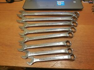 8 Sk Tools Sae Combination Wrenches 11 16 To 1 1 8 Free Usa Shipping