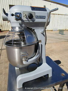 Hobart 20qt A200t Dough Planetary Mixer With Bowl Guard Bowl 1 Hook