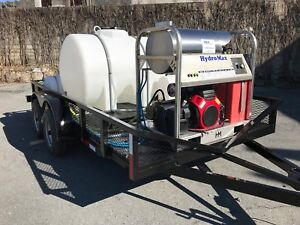 Hot Water Pressure Washer Trailer Mounted 8gpm 3600psi honda Gx690