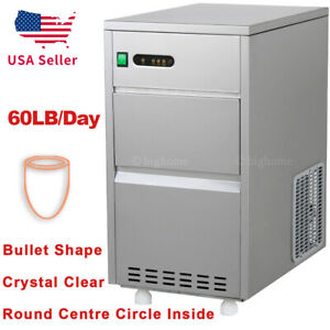 60 Lbs day Auto Nugget Bullet Ice Maker Commercial Bar Home Countertop M