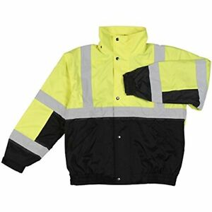 Erb W106 High Visibility Class 2 Bomber Jacket W fleece Lining Lime