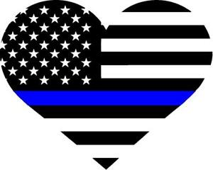 Thin Blue Line Heart