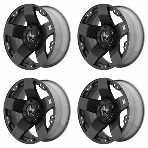 4x Xd Series 17x8 Xd775 Rockstar Wheels Matte Black 6x5 5 6x135 6x139 7 35mm