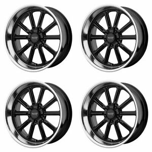4x American Racing 17x8 Vn507 Rodder Wheels Gloss Black 5x4 75 5x120 65 0