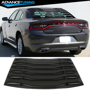 Fits 11 18 Dodge Charger Ikon Style Rear Window Louver Cover Vent Black Abs