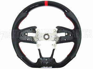 Buddy Club Carbon Fiber Sport Steering Wheel For 17 18 Honda Civic Type R Fk8
