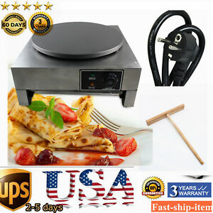 16 Commercial Electric Crepe Maker 3kw Kitchen Pancake Machine Single Hotplate